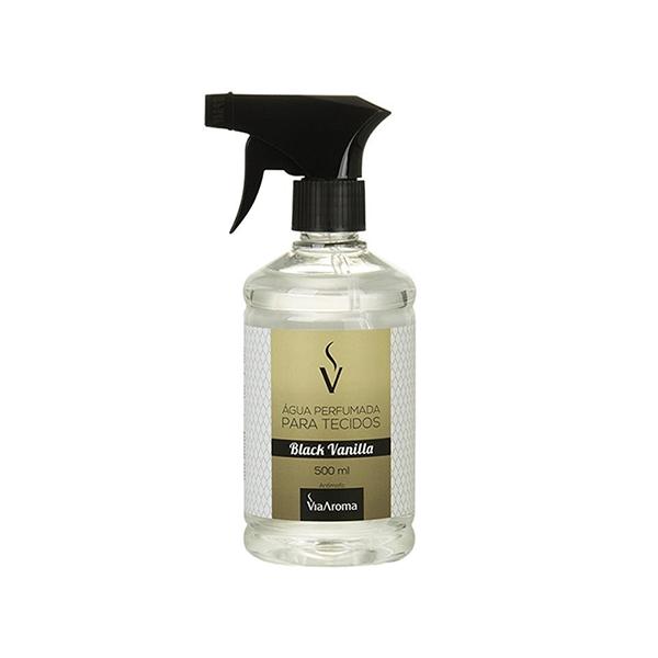Agua Perfumada para Tecidos Black Vanilla 500ml - Via Aroma - by AtHome Loja