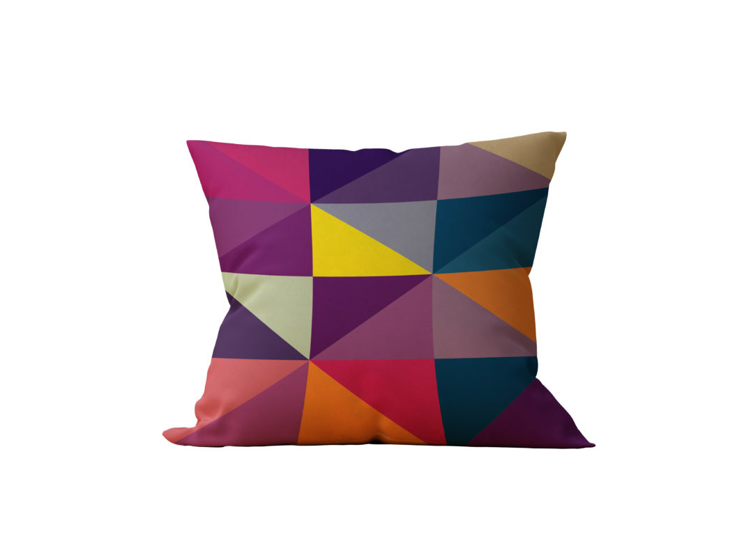 Almofada Decorativa Geométrica Color - 45x45