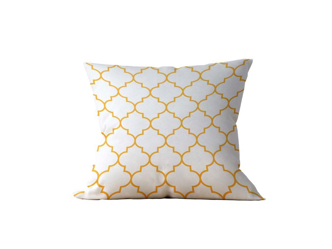 Almofada Decorativa Geométrica White & Gold - 45x45 - by #1 AtHome Loja