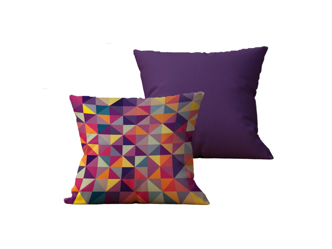 Kit com 2 Almofadas decorativas Geo MultiColor Duo - 45x45 - by #1 AtHome Loja