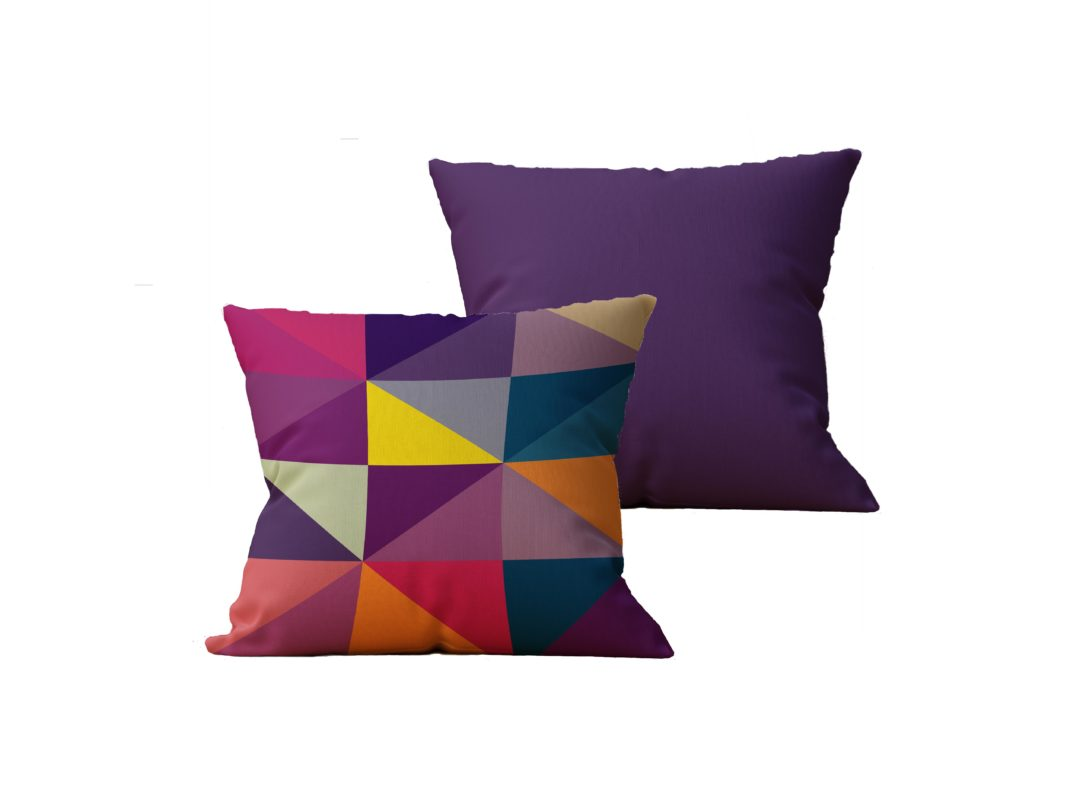 Kit com 2 Almofadas decorativas Geo Color - 45x45 - by #1 AtHome Loja