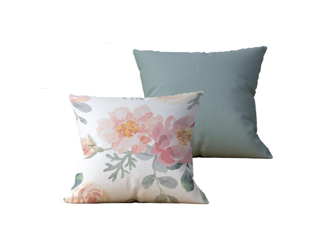 Kit com 2 Almofadas decorativas Flor in Nature Duo - 45x45 - by #1 AtHome Loja