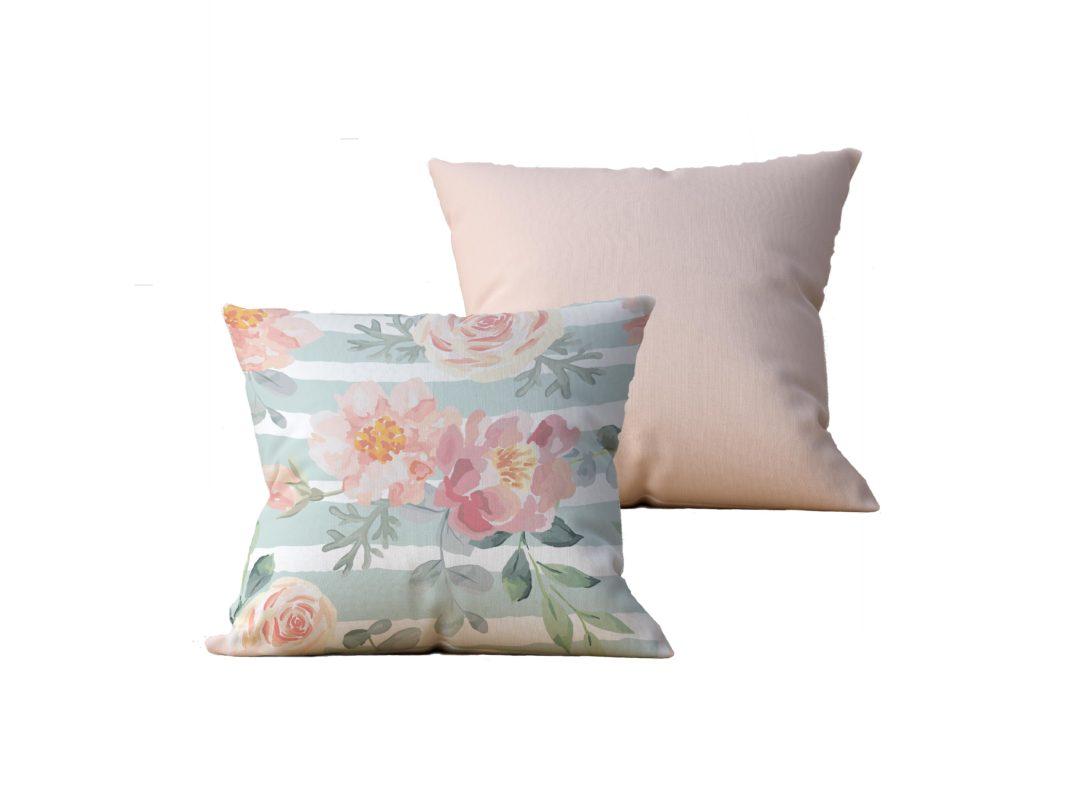 Kit com 2 Almofadas decorativas Flor Esperance - 45x45 - by #1 AtHome Loja