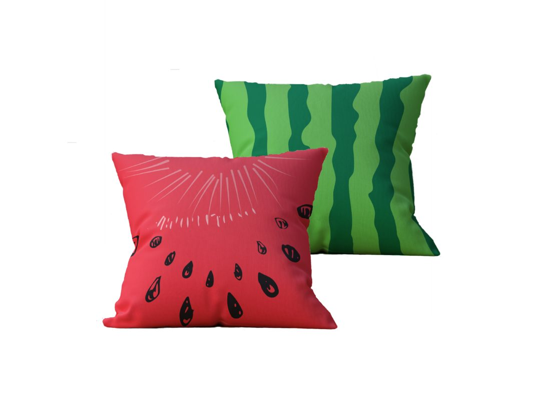 Kit com 2 Almofadas decorativas WaterMelon - 45x45 - by #1 AtHome Loja