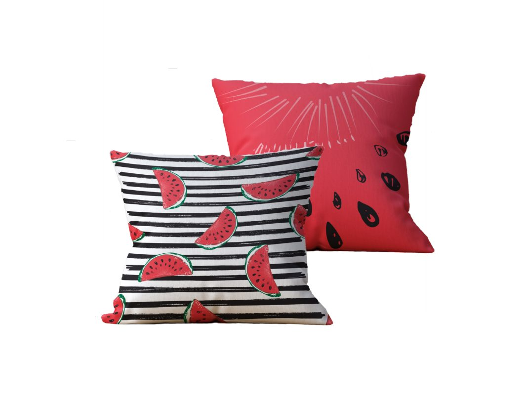 Kit com 2 Almofadas decorativas WaterMelon Duo - 45x45 - by #1 AtHome Loja