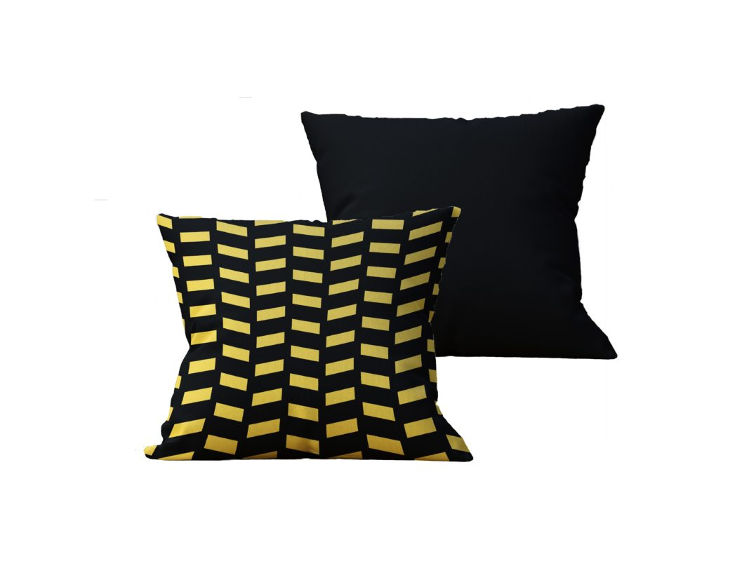 Kit com 2 Almofadas decorativas Black & Gold - 45x45 - by #1 AtHome Loja