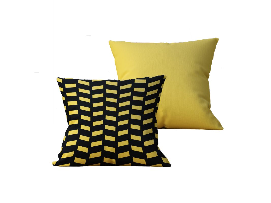Kit com 2 Almofadas decorativas Black & Gold Duo - 45x45 - by #1 AtHome Loja