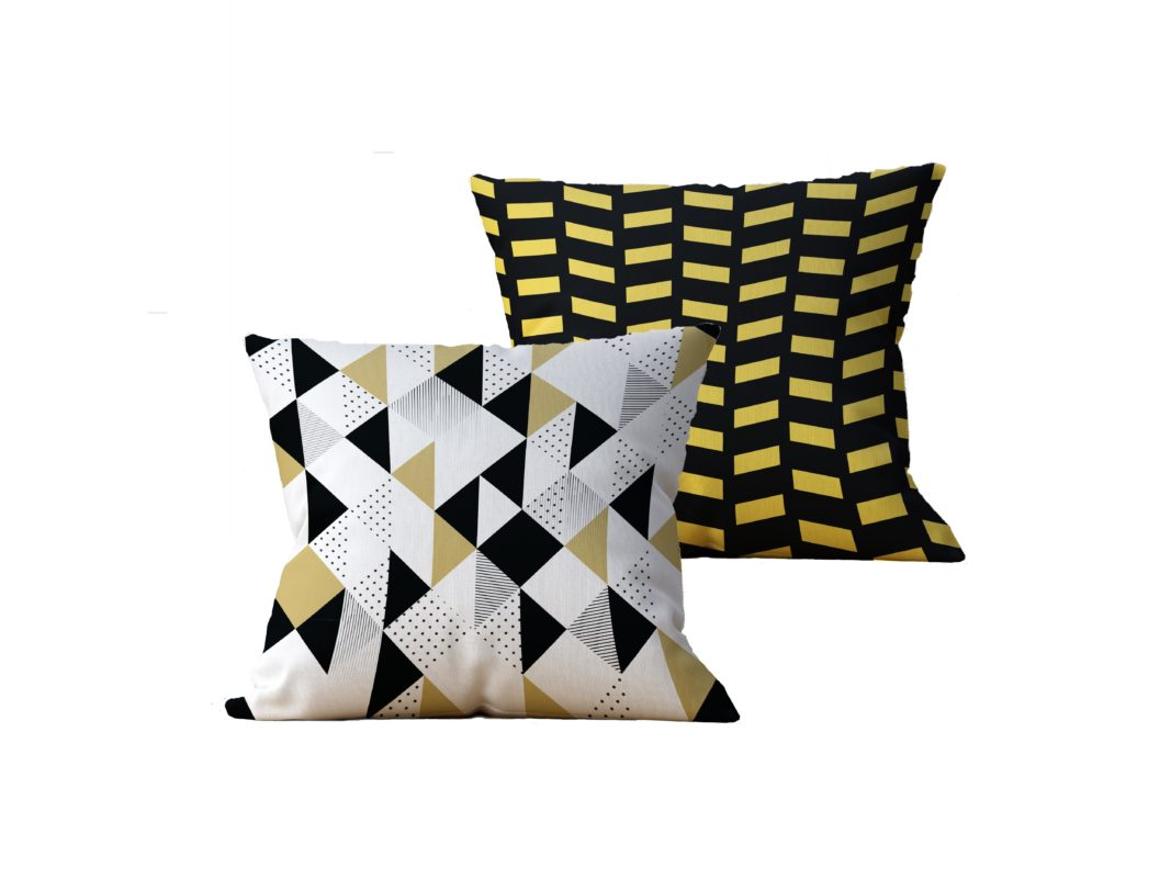 Kit com 2 Almofadas decorativas Geo Gold - 45x45 - by #1 AtHome Loja
