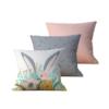 Kit com 3 Almofadas Decorativas Paske - 45x45 - by #1 AtHome Loja