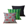 Kit com 3 Almofadas Decorativas WaterMelon Duo - 45x45 - by #1 AtHome Loja