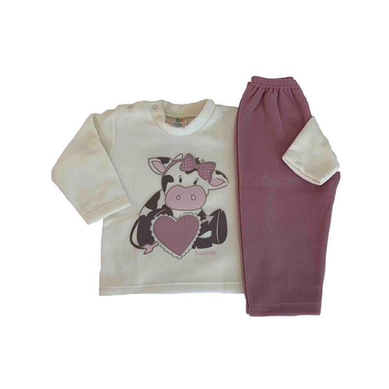 Pijama Infantil Soft - Coraçao - Dadomile