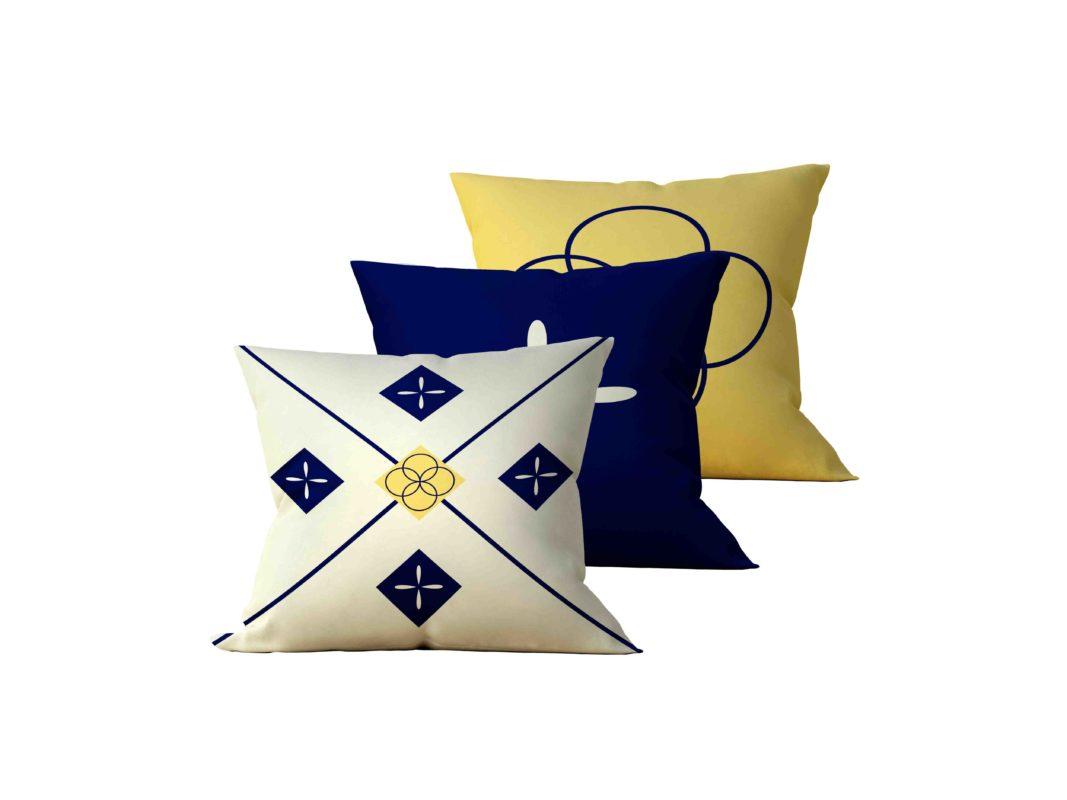 Kit: 3 Almofadas Decorativas Cross - 45x45