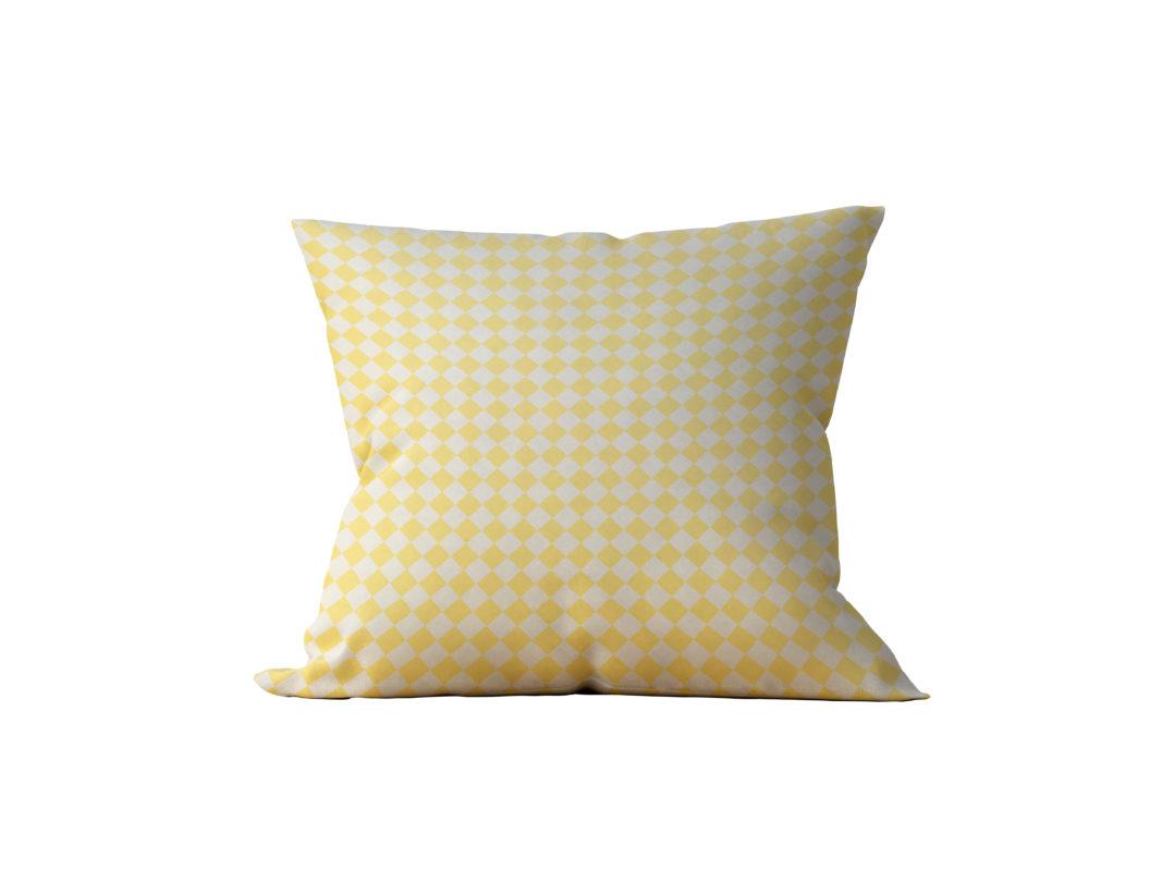 Almofada Decorativa Amarela Losangos - 45x45