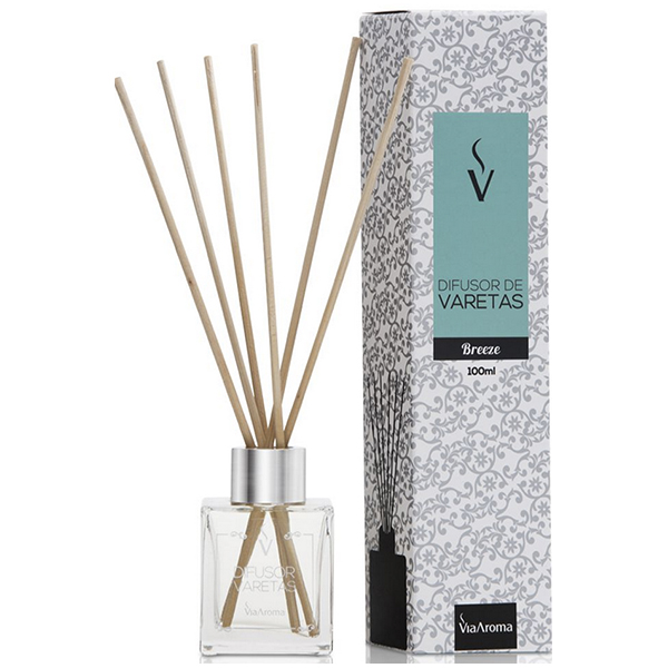 Difusor de Varetas 100ml Breeze - Via Aroma