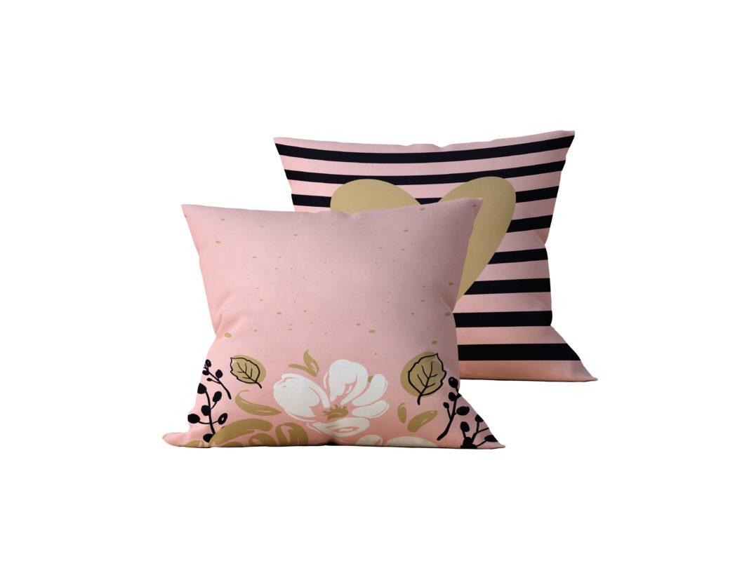 Kit com 2 Almofadas Decorativas Rose Flower Neo - 45x45