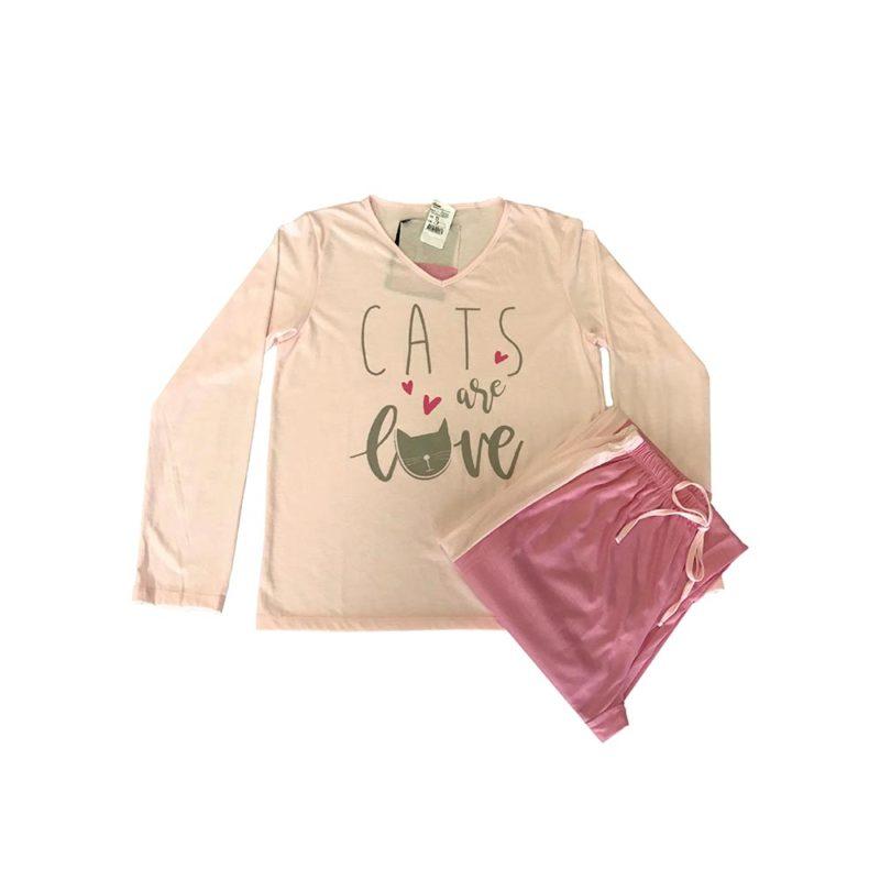 Pijama Feminino Adulto Inverno - Are Love em Malha Suave PV Confort - Serena