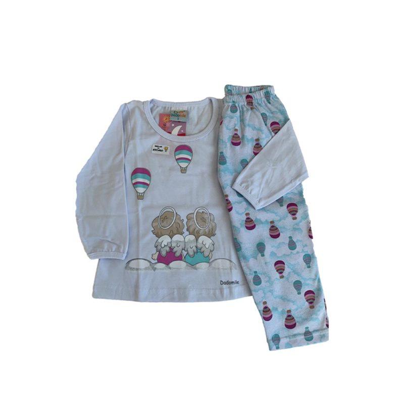 Pijama Infantil Meia Malha - Anjinhos - Dadomile