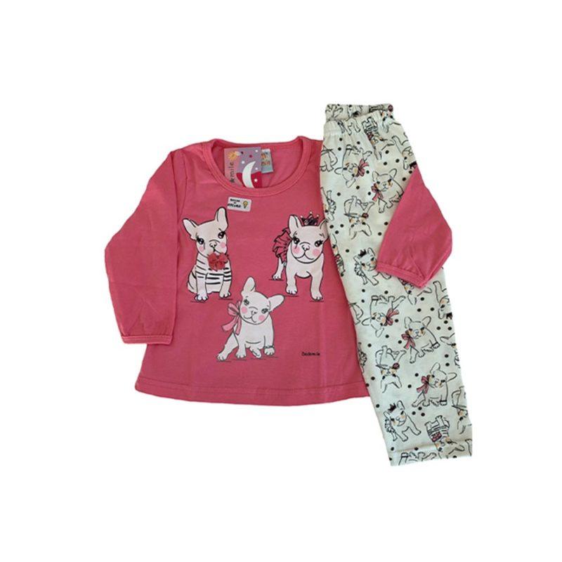 Pijama Infantil Meia Malha - Pets - Dadomile