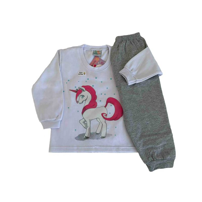 Pijama Infantil Moletinho - Unicórnio - Dadomile