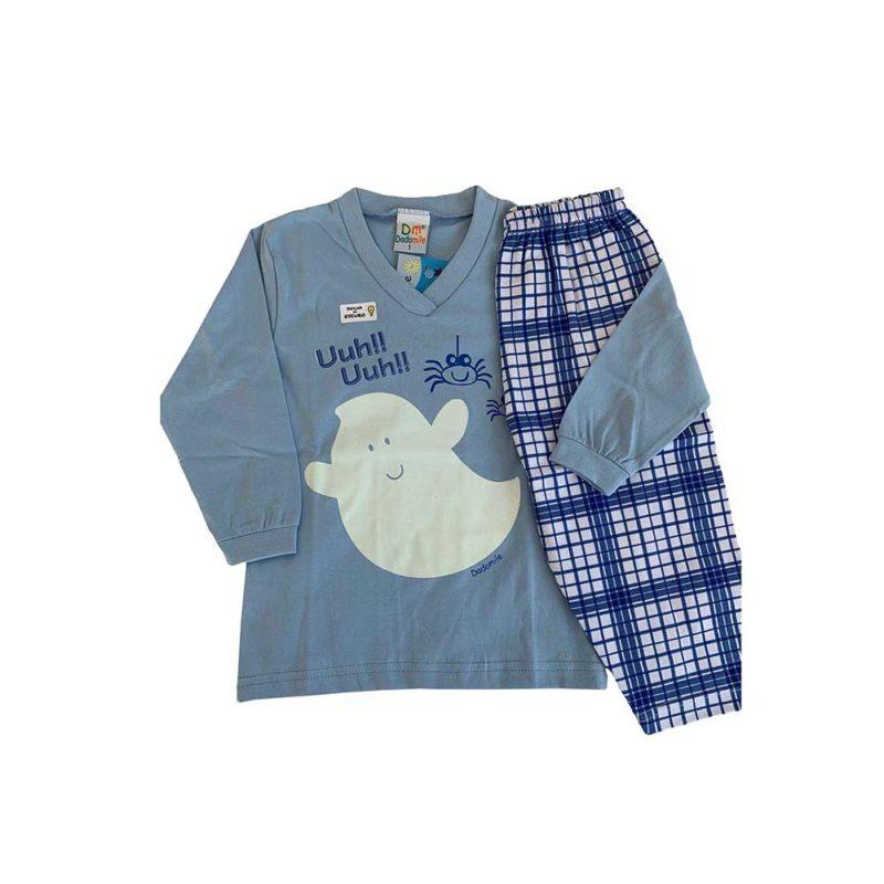 Pijama Infantil Meia Malha - Ghost - Dadomile