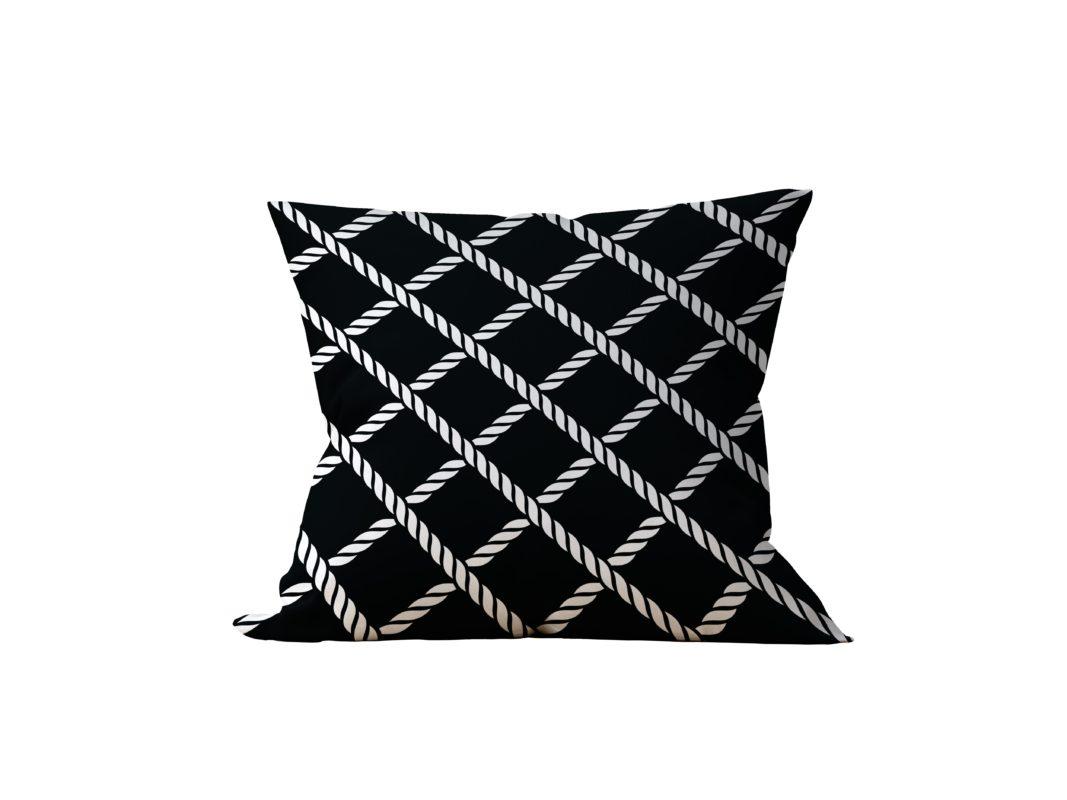 Almofada Decorativa Shakh Black - 45x45