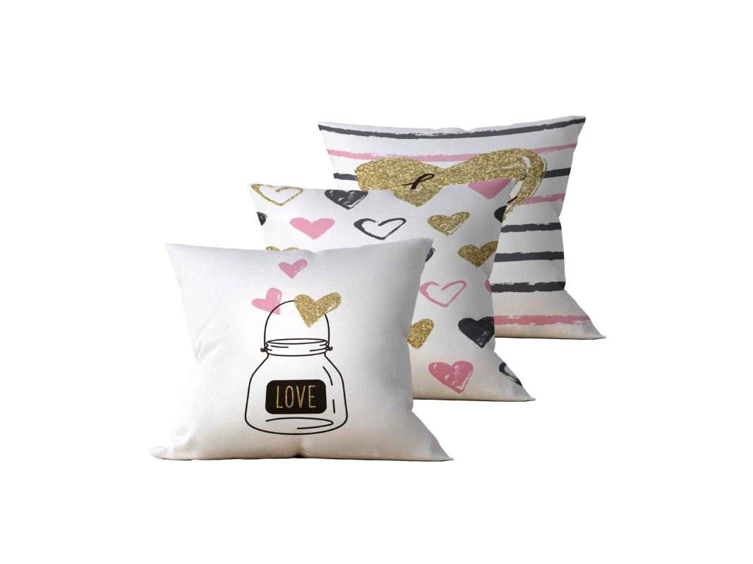 Kit: 3 Almofadas Decorativas Be Love - 45x45