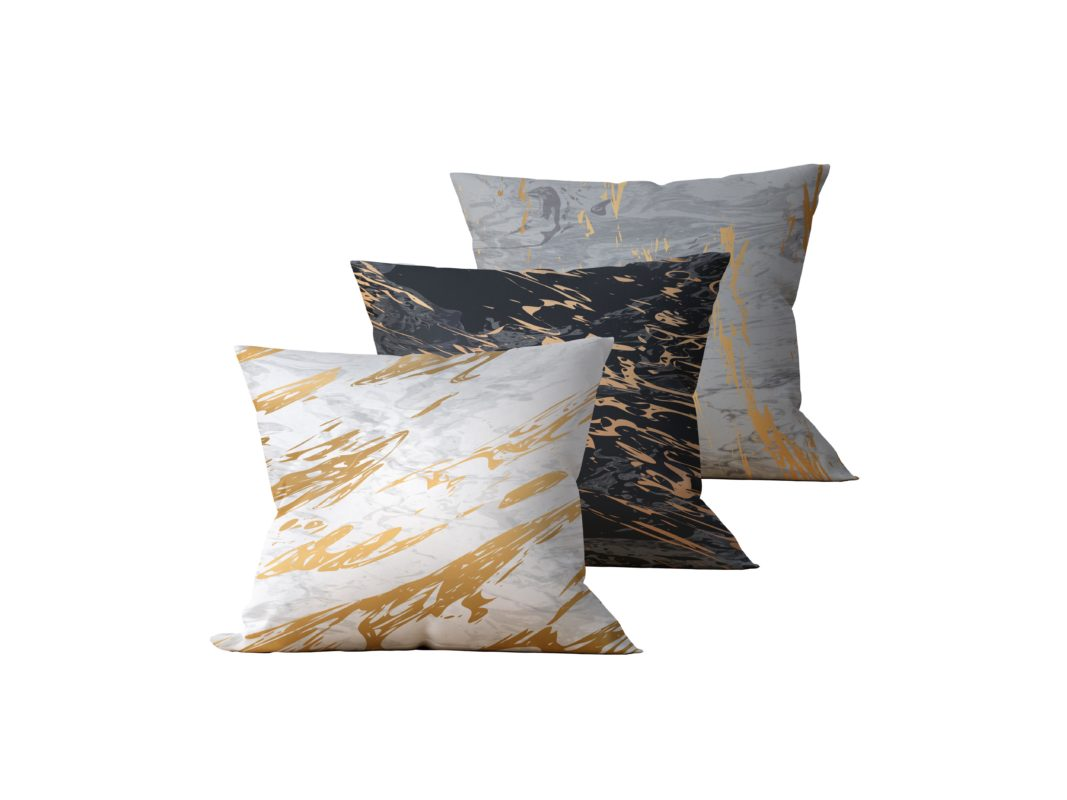 Kit: 3 Almofadas Decorativas Marmor - 45x45