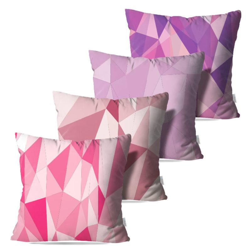 Kit: 4 Capas de Almofada Decorativas Peara - 45x45