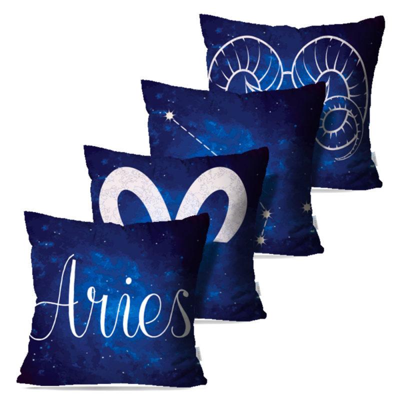 Kit: 4 Capas de Almofada Decorativas Aries - 45x45
