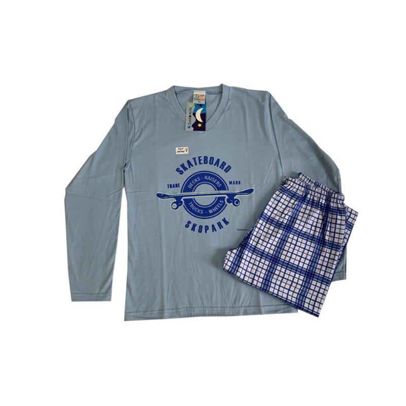 Pijama Infantil Meia Malha - Skateboard - Dadomile