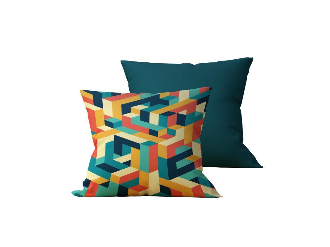 Kit: 2 Almofadas Decorativas Colourful - 45x45