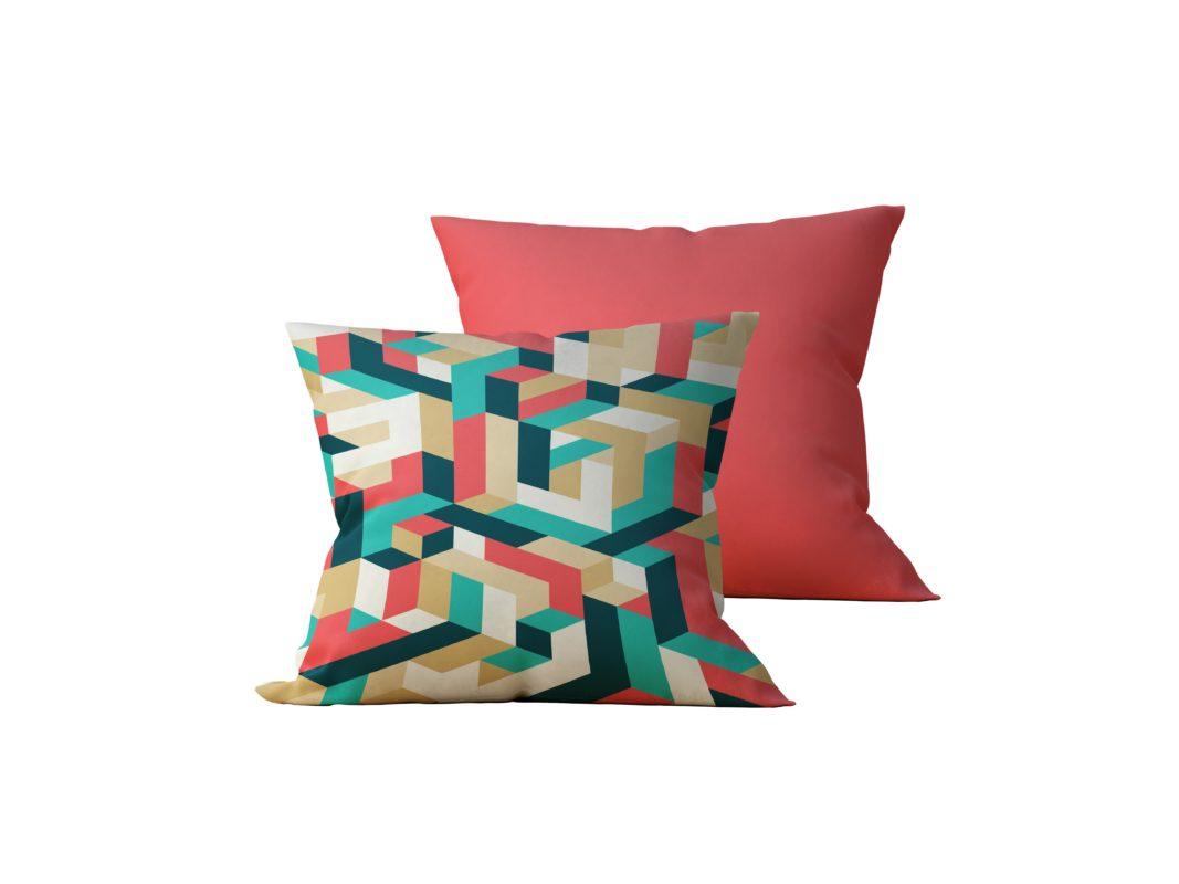 Kit: 2 Almofadas Decorativas Colour - 45x45