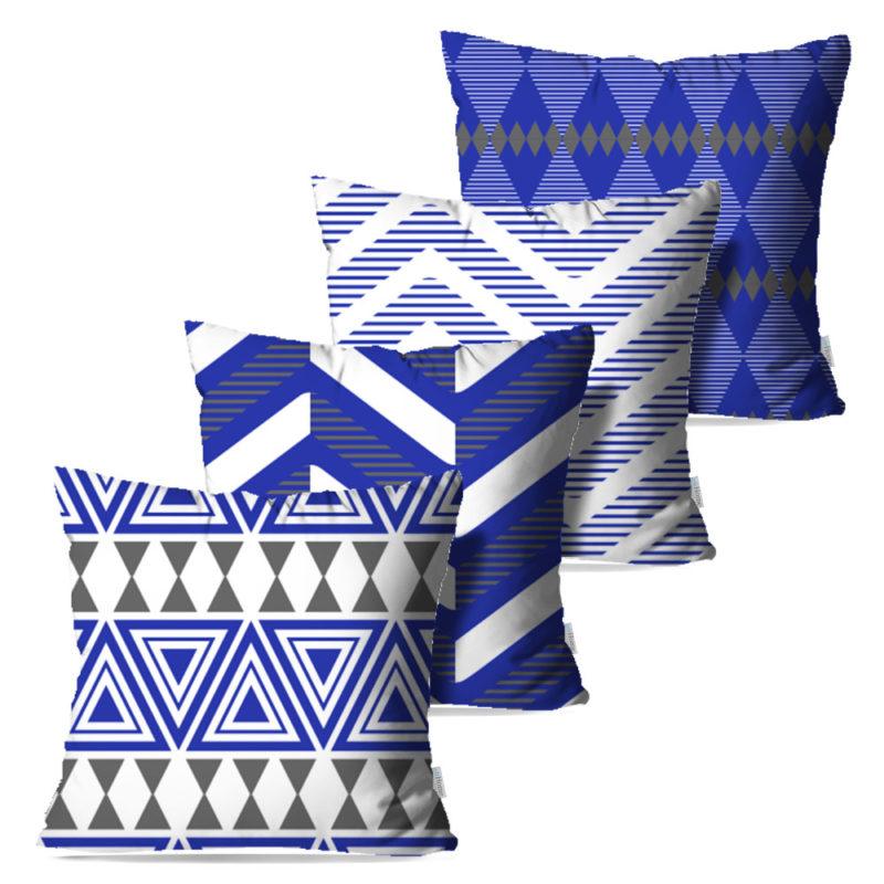 Kit: 4 Capas de Almofada Decorativas Atiz - 45x45